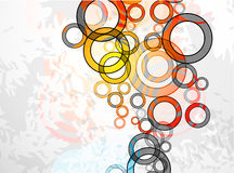 Vector abstract color grunge circles background Royalty Free Stock Photography