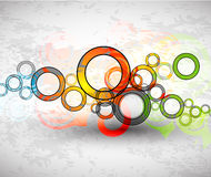Vector abstract color grunge circles background Stock Photo