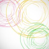 Vector abstract color line and circle background.  Stock Photography