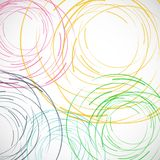 Vector abstract color line and circle background.  Royalty Free Stock Photos