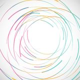 Vector abstract color line and circle background.  Stock Photo