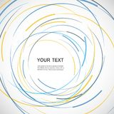 Vector abstract color line and circle background.  royalty free illustration