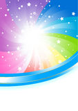Vector abstract colorful background stock image