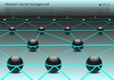 Vector abstract colorful background with 3d ball in blue color. EPS10 Stock Photos