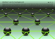 Vector abstract colorful background with 3d ball in green color. EPS10 Royalty Free Stock Photo
