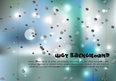 Vector abstract colorful background in green and blue color with. Water drops. EPS10 Royalty Free Stock Photography
