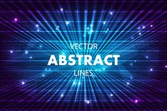 Vector abstract colorful background with lines in blue color.  royalty free illustration
