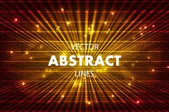 Vector abstract colorful background with lines in red color.  stock illustration