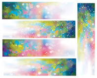Vector abstract colorful  backgrounds. Vector abstract colorful lights  and stars backgrounds Stock Image