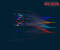 Vector abstract colorful big data information sorting visualization. Social network, financial analysis of complex Stock Image