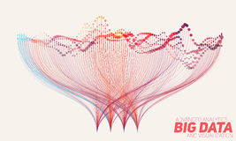 Vector abstract colorful big data information sorting visualization. Social network, financial analysis of complex Royalty Free Stock Image