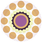Vector abstract colorful circles retro style Stock Images