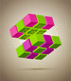 Vector abstract colorful  cube Royalty Free Stock Photos