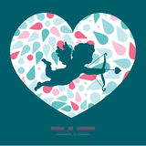 Vector abstract colorful drops shooting cupid Royalty Free Stock Image