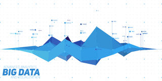 Vector abstract colorful financial big data graph visualization. Futuristic infographics aesthetic design. Royalty Free Stock Photography