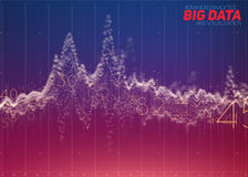 Vector abstract colorful financial big data graph visualization. Royalty Free Stock Photo