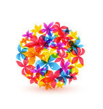 Vector abstract colorful flowers Stock Images