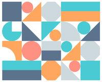 Vector abstract colorful geometric background Stock Images