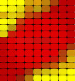 Vector abstract colorful mosaic background. Red and yellow colors. An abstract background consisting of elements of a different shape, located in a mosaic Royalty Free Illustration