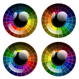 Vector abstract colorful palette eye Royalty Free Stock Images