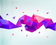 Vector abstract colorful purple faceted crystal Royalty Free Stock Photos