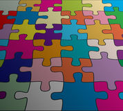vector abstract colorful puzzle background Stock Photo