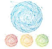 Vector abstract colorful sphere set. Flat Design Royalty Free Stock Images