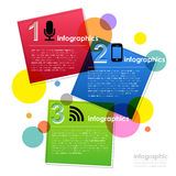 Vector abstract colorful square infographics Stock Images