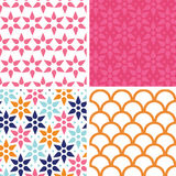 Vector abstract colorful stars set of four Royalty Free Stock Image