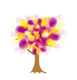 Vector abstract colorful tree Royalty Free Stock Photo