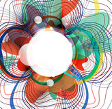 Vector abstract colorful wave threads design Stock Photos