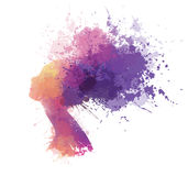 Vector abstract colorful woman portrait. Royalty Free Stock Photography