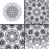 Vector abstract coloring pages with mandala. Islam, Arabic, turkish, ottoman motifs.. Art for relax and meditation Stock Photo