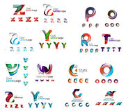 Vector abstract company logo mega collection, type Royalty Free Stock Photography