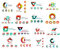 Vector abstract company logo mega collection, type Royalty Free Stock Image