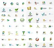 Vector abstract company logo mega collection, type Royalty Free Stock Photos