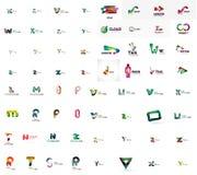 Vector abstract company logo mega collection, type Stock Photo