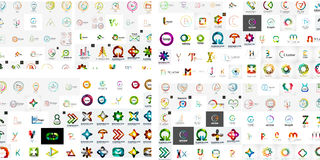 Vector abstract company logos mega collection Stock Images