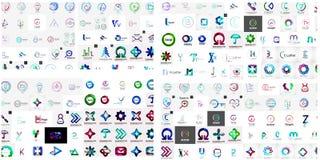 Vector abstract company logos mega collection Stock Photography