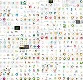Vector abstract company logos mega collection Royalty Free Stock Photography
