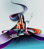 Vector abstract composition Stock Photography