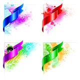 Vector abstract corner design with floral elements Stock Photography