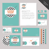 Vector abstract corporate identity set graphic design Royalty Free Stock Images