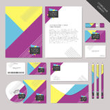 Vector abstract corporate identity set graphic design Stock Photos