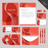 Vector abstract corporate identity set graphic design Royalty Free Stock Photography