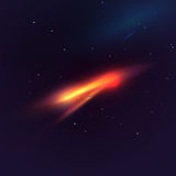 Vector Abstract Cosmic Background. Bright Flash in Open Space Stock Photography