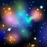 Vector abstract cosmic background Royalty Free Stock Photos
