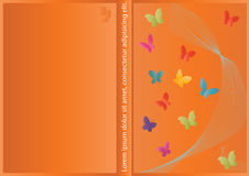 Vector abstract Cover design with butterfly Stock Photography