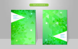 Vector abstract cover design template geometric pattern Stock Images