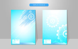 Vector abstract cover design template sci fi machine working innovation concept Royalty Free Stock Photography